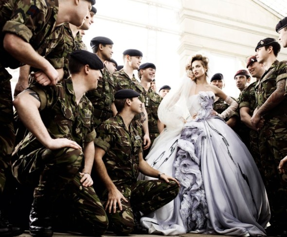 army young bride wedding fashion photograph mario testino