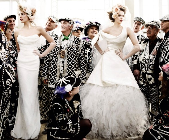 old young bride wedding fashion model photography mario testino