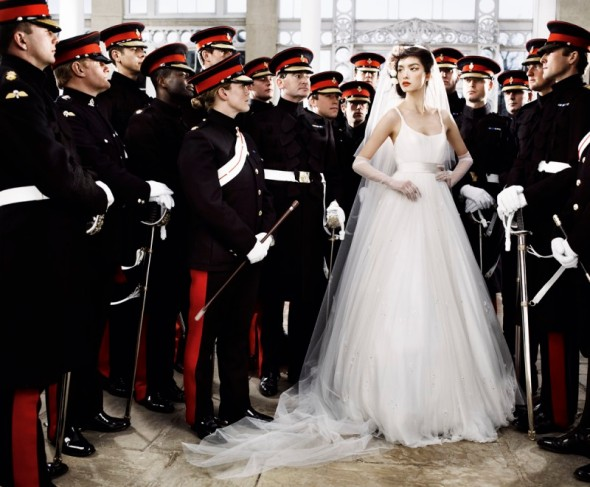 military young bride wedding fashion photograph mario testino vogue