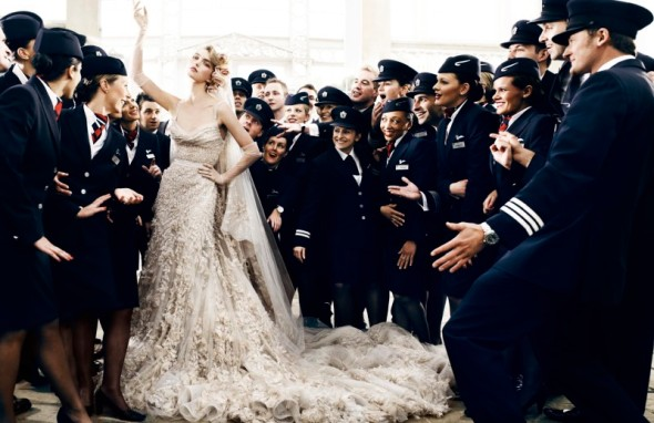 air hostess bride model fashion photograph mario testino