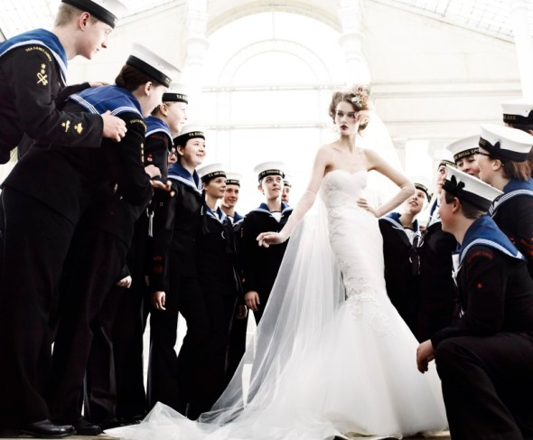 navy kids wedding bride fashion photography mario testino