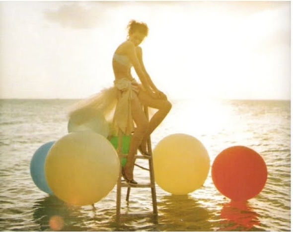 Beauty balloons sea fashion photography tim walker