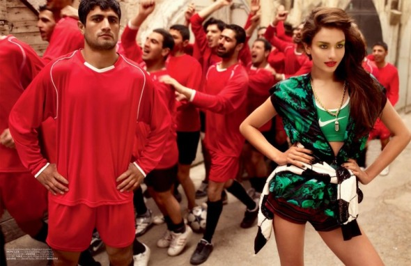 Vogue Turkey nike football Mariano Vivanco Beauty Model photography