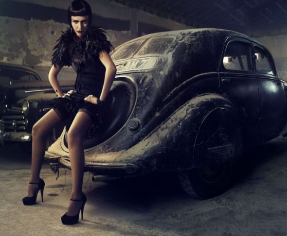stunning jessica alba car battista vogue italy fashion photography