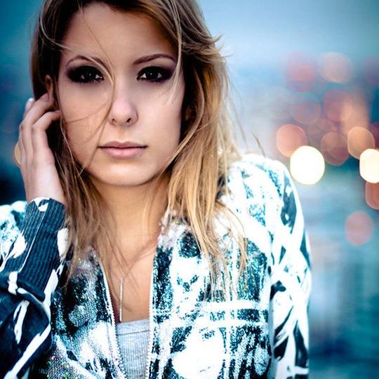 Beautiful bokeh portrait girl