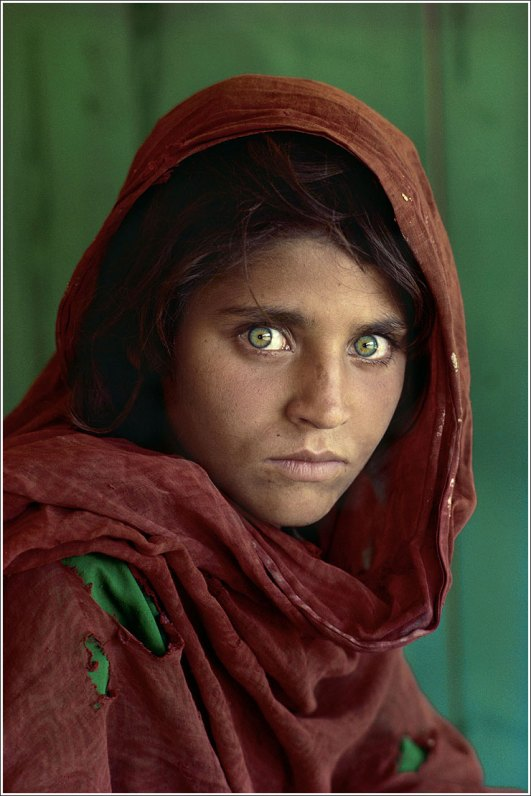 Steve McCurry Afghan girl portrait photography