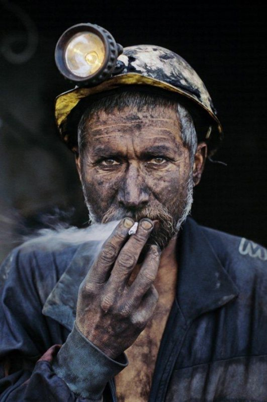 Portrait of worker mccurry photography
